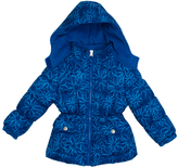 Pink Platinum Royal Blue Floral Puffer Jacket - Toddler & Girls