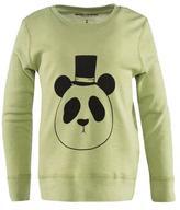 Mini Rodini Panda Long Sleeve Wool Tee in Green