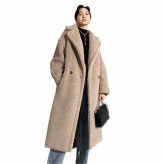 NKJGFV Women's Teddy Bear Coat Alpaca Jackets Wool Outwear