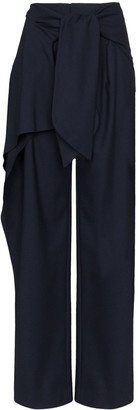 Chloé front tie flannel trousers