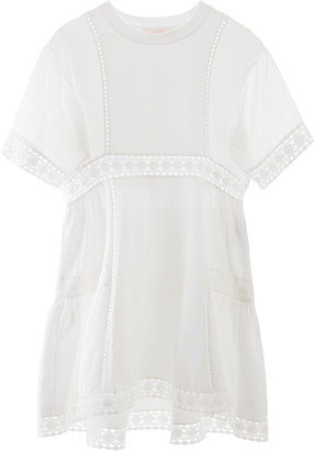 See by Chloe Short Dress With Lace Inlays