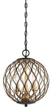Everly Quinn Vincente 3 - Light Lantern Globe Pendant