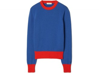 Tory Burch Cashmere Color-Block Sweater
