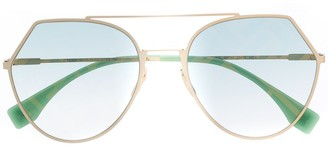 Fendi Eyewear Aviator Style Sunglasses
