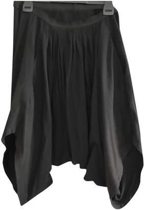 Rick Owens Anthracite Cotton Shorts