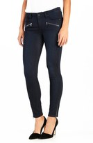 Paige 'Jane' Zip Detail Ultra Skinny Jeans (Abrielle No Whiskers)