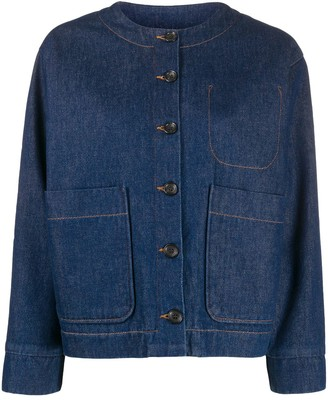 A.P.C. Collarless Denim Jacket