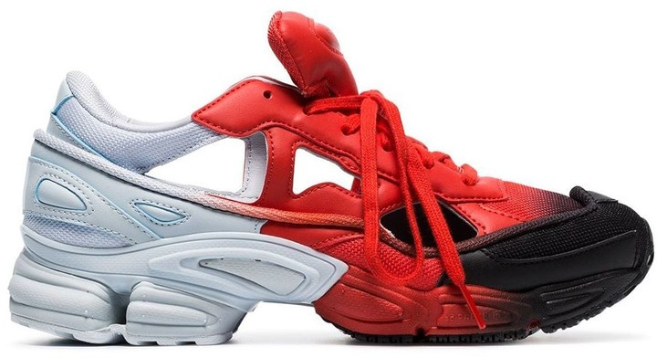 Adidas By Raf Simons black, red and grey RS replicant ozweego sneakers