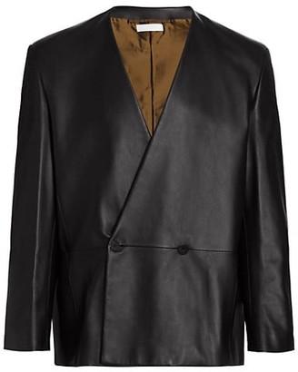 Fearofgodzegna Double-Breasted Leather Jacket