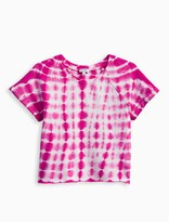 Splendid Girl Tie Dye Brushed French Terry Top