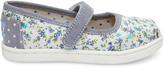 Toms Blue Chambray Ditsy Floral Tiny Mary Janes