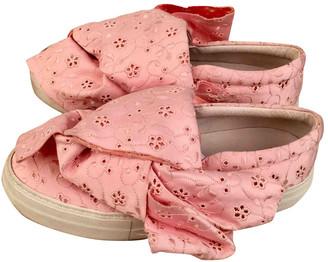 Joshua Sanders Pink Cloth Trainers