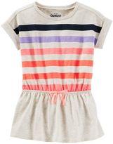 Osh Kosh Toddler Girl Dolman Short Sleeve Striped Tunic
