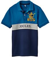 Joules Little Joule Boys' Junior Harry Polo Shirt, Bluebird