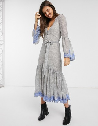 We Are Kindred argentina embroidered midi dress