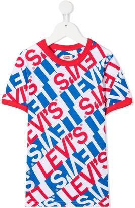 Levi's all-over logo print T-shirt
