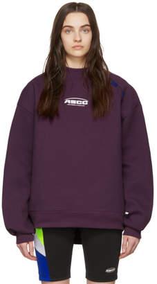 Ader Error ADER error SSENSE Exclusive Purple ASCC Unbalanced Yoke Sweatshirt