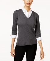 Karen Scott Petite Layered-Look Top, Only at Macy's