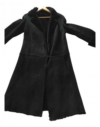 Nicole Farhi Black Shearling Coats