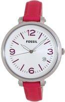 Fossil Women's ES3277 Heather Pink/White Stainless Steel Watch