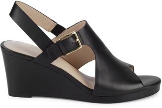 Cole Haan Phlma Grande Leather Wedge Slingback Sandals