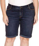 ST. JOHN'S BAY St. John's Bay Denim Bermuda Shorts - Plus