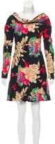 Christian Lacroix Silk Cowl Neck Dress