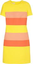 Wool stripe shift dress