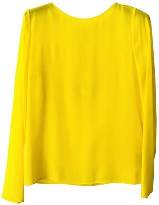Patrizia Pepe Yellow Silk Top for Women
