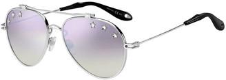 Givenchy Men's Star Studded Aviator Sunglasses