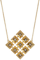 House Of Harlow Embellished Grid Square Pendant Necklace