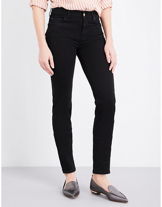 7 For All Mankind Women's Blue Rozie Super-Skinny High-Rise Jeans, Size: 25