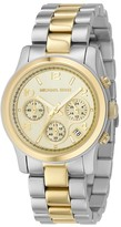 Watch, Women's Chronograph Two Tone Mixed Metal Bracelet 32mm MK5137