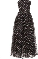 Rasario Strapless Sequinned Tulle Midi Dress - Womens - Black