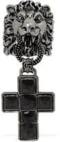 Gucci Lion Head & Crucifix Enameled Ring