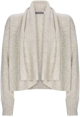 Mint Velvet Grey Crop Waterfall Cardigan