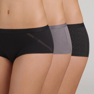 Dim Pack of 3 Pockets Stretch Cotton Knickers