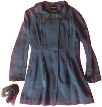 Giorgio Armani Blue Silk Coat for Women