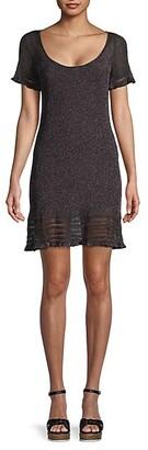 M Missoni Metallic Ribbed Mini Dress