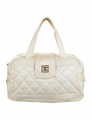 Chanel Sport Ligne Bowling Bag silver