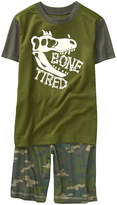 Crazy 8 Olive 'Bone Tired' Dino Pajama Set - Toddler & Boys