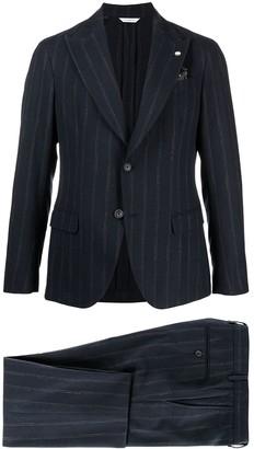 Manuel Ritz Pinstripe Single-Breasted Suit