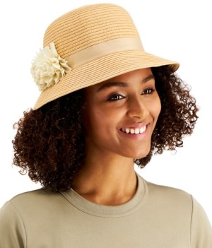 Cloche August Hats With Flower Band