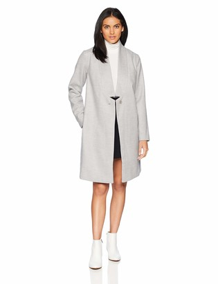 The Fifth Label Women's Seminar Easy One Button Long Soft Pea Coat