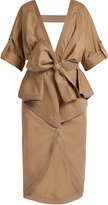 JOHANNA ORTIZ Patagonia peplum-waist stretch-cotton trench coat