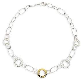 Ippolita Women's Classico Chimera Two-Tone Mixed Wire & Hammered Disc Necklace