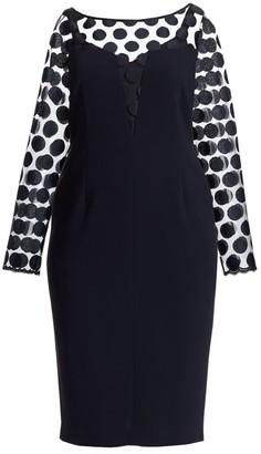 Marina Rinaldi Marina Rinaldi, Plus Size Elegante Divinas Embroidered Dress