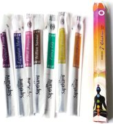 Gifts by Lulee Seven 7 Chakras Incense Sticks Made in India Free Wood Incense Burner