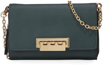 Zac Posen Eartha Leather Crossbody Wallet Bag
