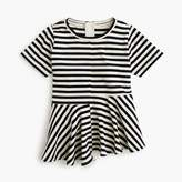J.Crew Girls' striped swingy T-shirt